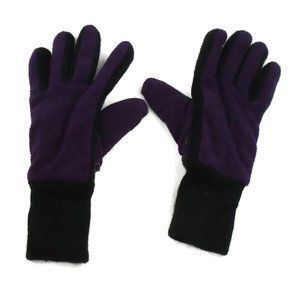 Purple Black Heavy Winter Gloves OS